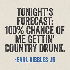 Country Drunk is right!