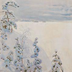 Le Prince Lointain: Akseli Gallen-Kallela (1865-1931), Paysage d'Hiver...