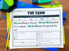 """""""I really love this resource, I feel like it has really helped my students with their reading. We play a game where we read just the colored words and then just the non-colored words and they think it is hilarious. Thank you."""" - Danielle Z. Our Sight Word Passages are here to induce giggles 😂 and help with reading 📖 - two of our favorite things in the world. 🌍 Small Group Activities, Word Work Activities, Vocabulary Activities, Fluency Practice, Sight Word Practice, Sight Words, Reading Fluency, Reading Intervention, Second Grade Teacher"""