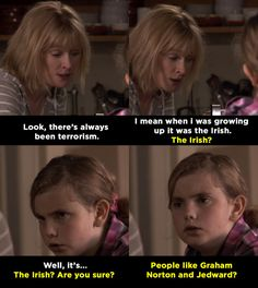 """When Sue tried to talk to Karen about terrorism: 