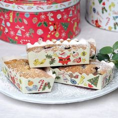 Set Of 12 Christmas Carnival Mini Loaf Cake Cases
