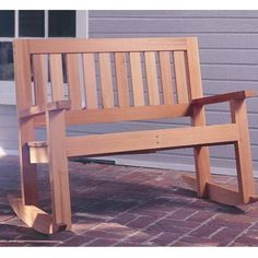 Paper plan to build double porch rocker plan no 929 at woodcraft com
