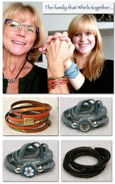 To see these Whirly Wrap bracelets, go to: www.MaryMercedes.Etsy.com