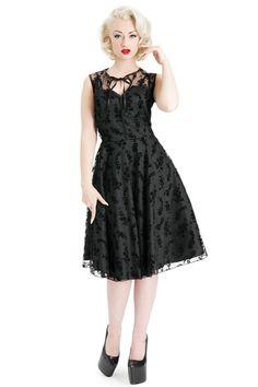 Voodoo Vixen Black Penny Dress - Shop 50's Vintage Prom Dresses at PDUK
