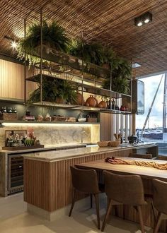 Kitchen Interior, Home Interior Design, Interior Architecture, Kitchen Decor, Interior Decorating, Earthy Home, Sweet Home, Küchen Design, Cheap Home Decor