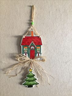 Christmas Crafts, Christmas Decorations, Christmas Ornaments, Holiday Decor, Fish Plate, Clay Houses, Turkish Art, Diy Recycle, Diy Painting
