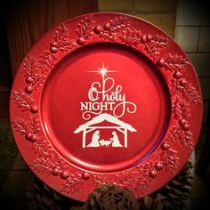 13  Decorative Christmas Charger Plate - Kelly Belly Boo-tique - 1 & Christmas Decorative Plate | Custom Vinyl By Design | Pinterest ...
