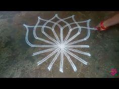 Saraswati pooja special kolam//pandaga muggulu// easy rangoli//2 - YouTube