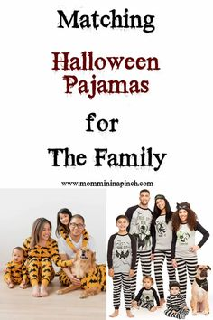 Matching Halloween Pajamas for the Family. Find the cutest Halloween Pjs here.  www.mommininapinch.com #halloween #halloweenpajamas #familypajamas #Halloweenmatchingpjs