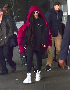 Rihanna at the JFK Airport on October 3, 2016.