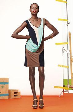 Suzi Chin for Maggy Boutique Draped Colorblock Sheath Dress | Nordstrom