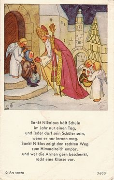 Saint Nicholas holy card