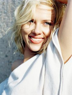 scarlett johansson. i'm not a big fan, but I think she looks beautiful in this picture.