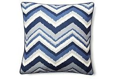 Love this blue chevron pillow