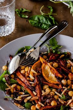 Roasted Moroccan Carrot Salad With Chickpeas | Delicious Everyday