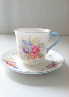 Vintage Shelley Fine Bone China Tea Cup and by MariasFarmhouse, $55.00