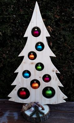 Your place to buy and sell all things handmade Weihnachtsbaum Holzdeko LED Advent Weihnachtsdeko Baum Wooden Christmas Crafts, Wooden Christmas Tree Decorations, Pallet Christmas Tree, Outdoor Christmas, Christmas Projects, Christmas Diy, Christmas Wreaths, Navidad Simple, Unique Woodworking