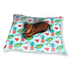 Healthy Fruits Dog Pillow Luxury Dog  Cat Pet Bed -- Want to know more, click on the image. (This is an affiliate link) #DogBedsFurniture