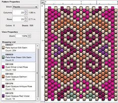 imaginesque free beading patterns by francis Peyote Beading Patterns, Peyote Stitch Patterns, Seed Bead Patterns, Beaded Bracelet Patterns, Loom Beading, Jewelry Patterns, Miyuki Beads, Bead Loom Bracelets, Bracelets