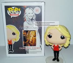 The Vampire Diaries Custom Funko Pop Of Caroline Forbes - Custom Funko Pop Obsession The Vampire Diaries, Vampire Diaries The Originals, Pop Figures, Vinyl Figures, Action Figures, Custom Funko Pop, Dream Pop, Pop Television, Pop Collection