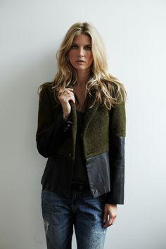mix textured jacket