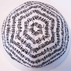 Music in The Round Kippah.  Cotton & Satin.  $12