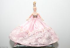 The 1996 Pink Splendor Barbie, valued at a thousand dollars, is Mr Colorites most treasured doll
