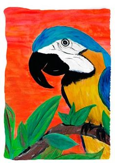 Vertical design - Parrot Head Tropical Bird Throw Blanket from my orig – Art Gifts by the Beach