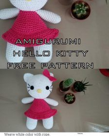 The most current amigurumi patterns are waiting for you on our site. We welcome you amigurumi hello kitty free crochet pattern. Amigurumi Tutorial, Crochet Patterns Amigurumi, Amigurumi Doll, Crochet Toys, Free Crochet, Double Crochet, Single Crochet, Crochet Fish, Cute Sheep