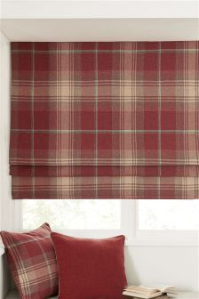 Buy Red Check Stirling Roman Blind from the Next UK online shop Roman Blinds Design, Roman Shades Kitchen, Blackout Roman Blinds, Classic Window, Red Kitchen, Kitchen Ideas, Lounge Decor, Roller Blinds, Curtains With Blinds