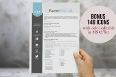 Eye-catching Word resume design by Inkpower on Creative Market