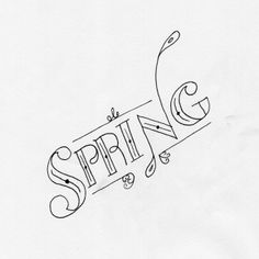 Today is the first day of spring! Finally the snow will start to melt with the warmer weather, the plants will grow green. #RickyG #lettering #typography http://www.rickygdesign.com/2014/03/20/first-day-of-spring/