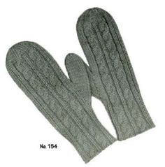 Beautiful womens' double-cabled mittens (free pattern via Free Vintage Knitting)