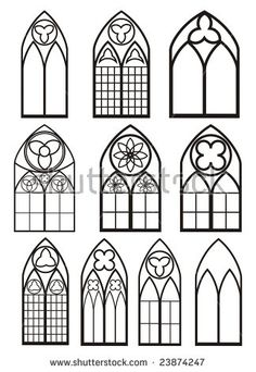 Photo about Chartres (Eure-et-Loir, Centre, France) - Interior of the cathedral in gothic style: stained glass. Image of front, glass, medieval - 26671180 Gothic Windows, Church Windows, Castle Window, Motif Art Deco, Stained Glass Patterns, Gothic Art, Stained Glass Windows, Window Glass, Gothic Fashion