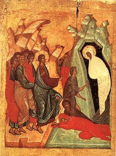 the raising of Lazarus #orthodox #icon