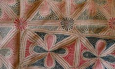 Close-up of a finished traditional Archilata Kantha