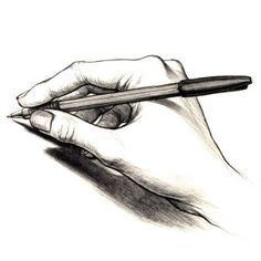 Drawing your own hand is one of the most frustrating, and yet skill improving, exercises you can do!