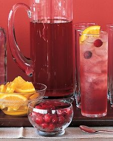 Cranberry Cosmopolitans - use a Flavored Vodka for more punch.  Wine Mistress