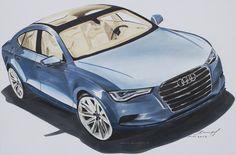 Ein Audi für Josef (gez. 11.2013).