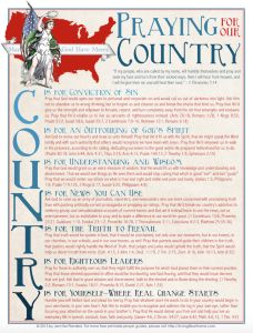 Praying for Our Country Prayer Guide