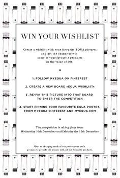 EQUA giveaway #equabottles #giveaway #wishlist