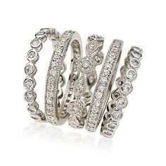 diamond stack rings … somebody's got a birthday coming up. hint, hint, wink…