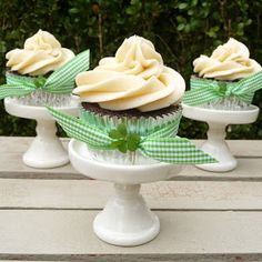 Baileys Irish Cream + Chocolate cupcakes