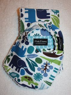3 Burp Cloths and 1 Bib Gift Set