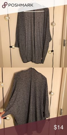 Gray Cardigan Slouch Style Quarter Sleeve Cute PacSun Sweaters Cardigans