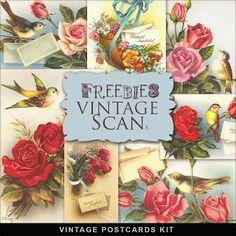 Freebies vintage postales