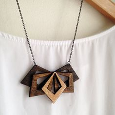 Large Wooden Statement Necklace by alysonprete