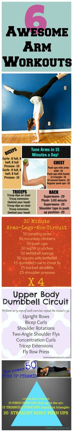 Great workouts to tone and build arm muscles. These arm workouts are great for building strength and stability, and helping with handstands!