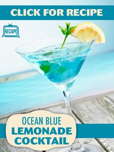 For a beautiful drink that goes perfectly with Tiki decor, try out Clinton Kelly's tasty Ocean Blue Cocktail with blue curacao and lemonade!
