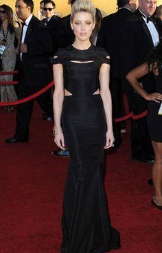 Amber Heard in Zac Posen at the SAG awards